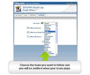 Todo el Mundial Sudafrica en Bing