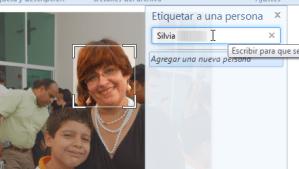 Etiquetar personas con la Galería de Fotos Windows Live