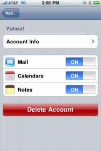 Sincronizar calendario yahoo y contactos en iPhone