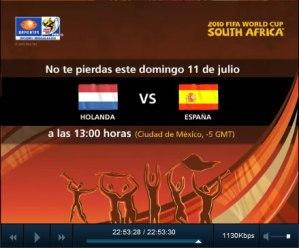 España vs Holanda en vivo, Final del mundial