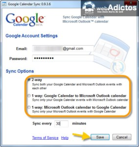 Sincronizar Outlook con Google Calendar