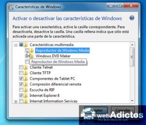 Desinstalar Windows Media Player 12