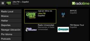 Estaciones de radio locales en RadioTime