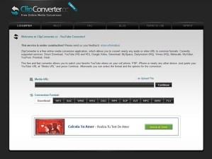 Convierte archivos online con ClipConverter