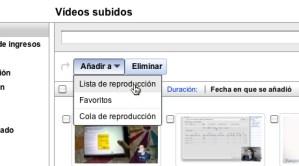 Hacer listas de reproducción de tus videos en YouTube