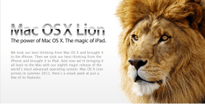 Mac OS X ahora será conocido como Lion
