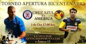Cruz Azul vs America en vivo, apertura 2010