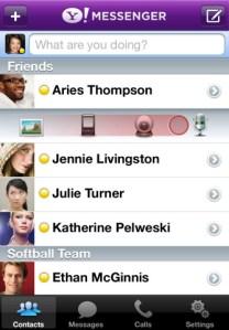 Yahoo Messenger para iPhone ahora con llamadas de voz y video