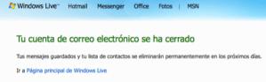 Desactivar tu cuenta de Hotmail