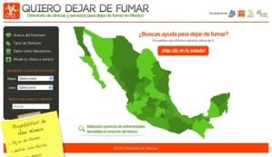 Quiero Dejar de Fumar, directorio de clínicas en México