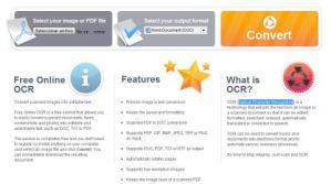 Convierte tus imagenes a texto editable con Free Online OCR