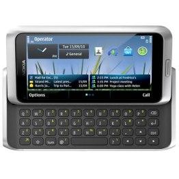 Nokia E7 llega en Abril a América latina - nokia-e7-silver-white-front-slide
