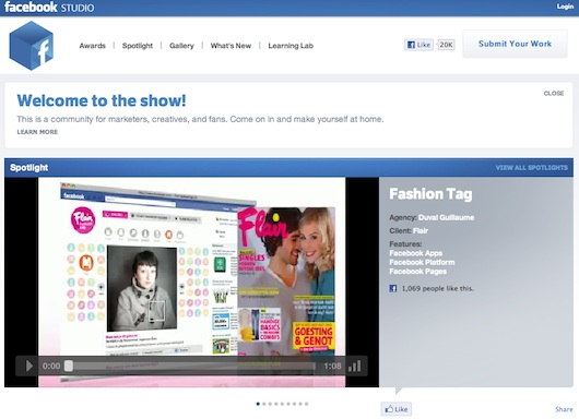 Facebook Studio, la red social para los anunciantes de Facebook - Facebook-Studio