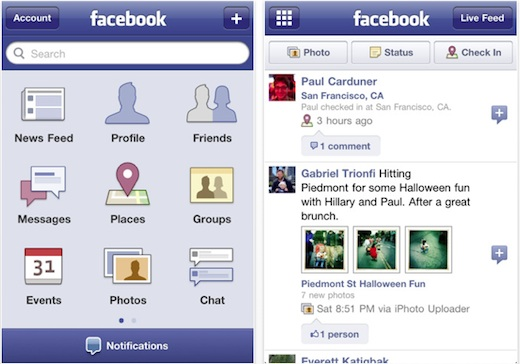 Facebook for iphone 3.4 La aplicación de Facebook para iPhone se actualiza y trae varias novedades