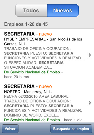 encontrar trabajo mexico iphone Buscar trabajo desde tu celular
