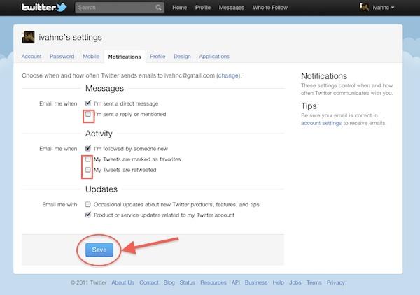 Como modificar las notificaciones por mail de Twitter - Twitter-notificaciones-mail-4