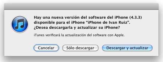Sale actualización de iOS (4.3.3) para terminar la polémica de la localización - actualizacion-ios-4.3.3
