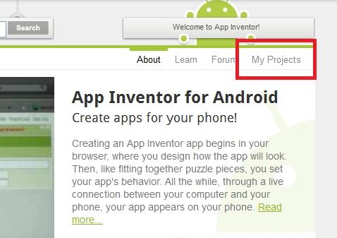 Como crear una aplicación para Android con App Inventor - app-inventor-my-projects
