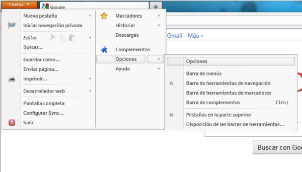 Abrir varias pestañas al iniciar tu navegador (Chrome y Firefox) - firefox-opciones