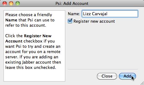 registrar cuenta jabber psi Como agregar tu cuenta de MSN (Hotmail) a iChat