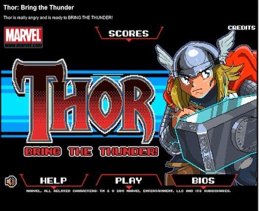 Thor: Bring the Thunder, un juego gratuito y online del dios del trueno - thor-Bring-the-thunder