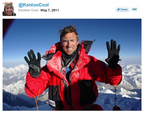 Primer Tweet en el Monte Everest - twitter-everest