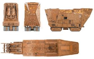El Sandrcrawler de Star Wars reproducido con 10mil piezas de Lego