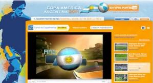 Youtube trasmitirá en vivo la Copa América 2011