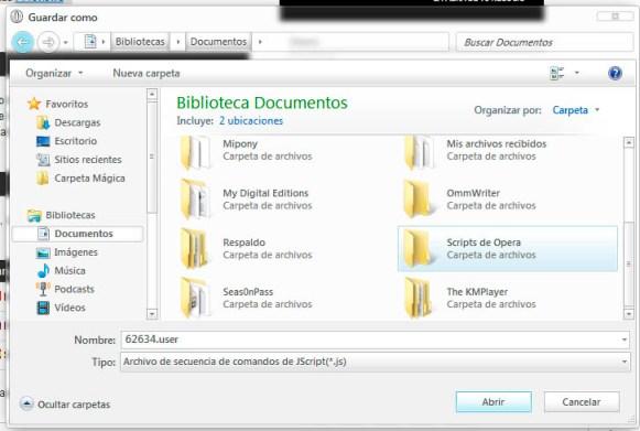 Ejecutar scripts de Userscripts con Opera - Opera-guardar