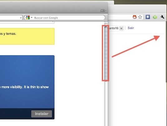 Reduce el tamaño de la barra de desplazamiento de Google Chrome con Thin Scroll Bar - Thin-Scroll-Bar-for-Chrome