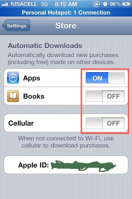 activar icloud 3 Como activar las descargas automáticas de iCloud en el iPhone, iPad e iPod Touch