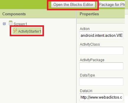 app inventor shortcut Como crear una aplicación para Android con App Inventor