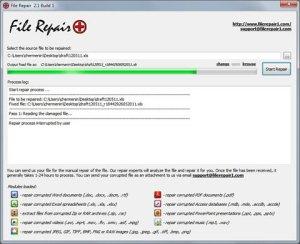Reparar archivos con File Repair
