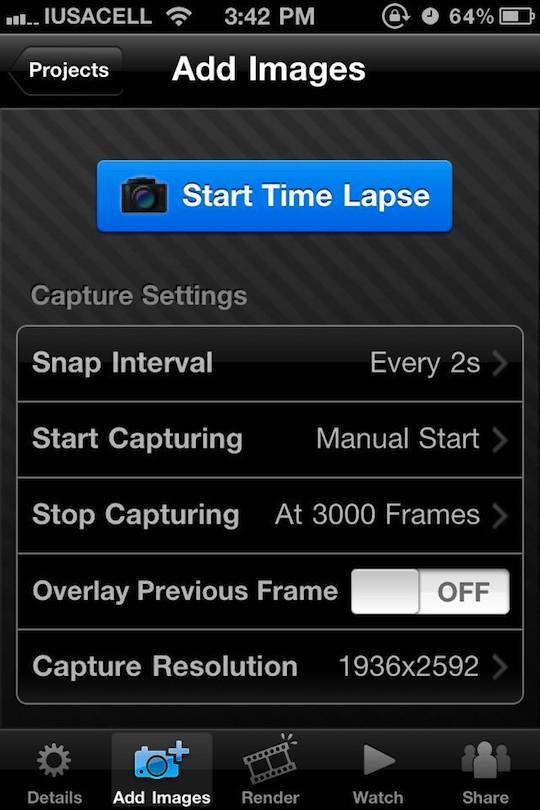 itimelapse 1 TimeLapse, qué es y como hacer un video con esta técnica utilizando iTimeLapse Pro para iPhone