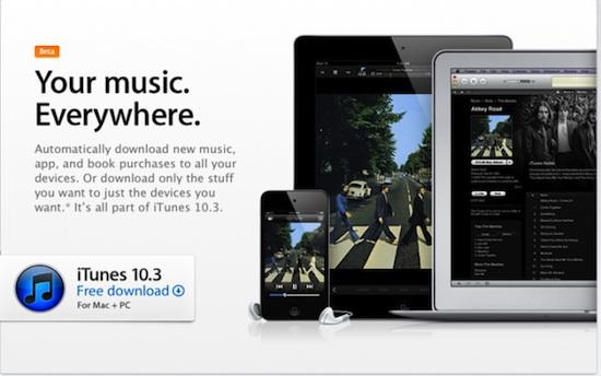 iTunes 10.3 disponible para su descarga - itunes-10.3