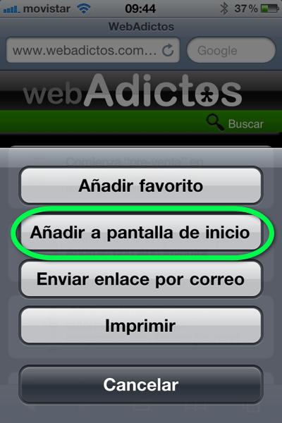 Como agregar un sitio web a tu página de inicio de tu iPhone, iPod o iPad - la-foto-2