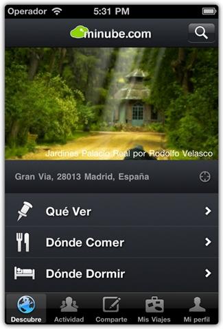 minube iphone Aplicación para viajes, minube
