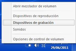 Activar la mezcla estéreo en Windows - volumen