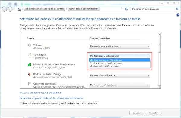 Mostrar la información del clima en la barra de tareas de Windows - yowindowajustes1