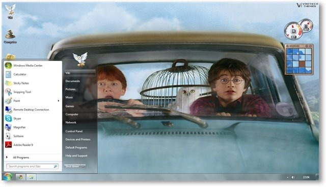 Temas Windows 7, Harry Potter