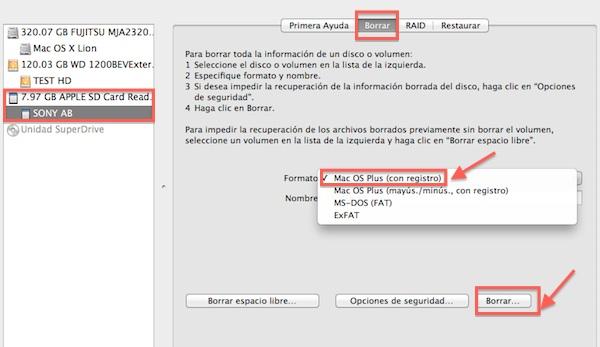Instalar Lion en uns usb o sd Cómo instalar Mac OS X 10.7 Lion desde un USB, DVD o SD