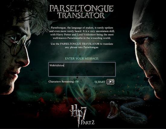 Traductor de Parsel para todos fanáticos de Harry Potter - Traductor-de-parsel