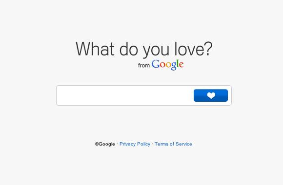 What do you love, lo nuevo de Google - caja-de-busqueda