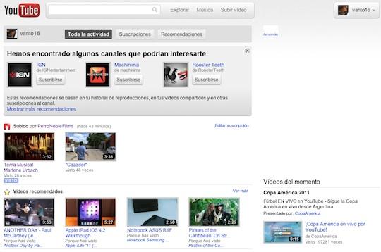 Youtube presenta su nueva interfaz Cosmic Panda, te decimos como activarla - cosmic-panda-mainpage
