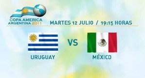 México vs Uruguay en vivo, Copa América 2011