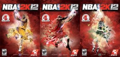 Jordan, Bird y Magic en la portada de NBA 2K12 - nba-2k12-covers