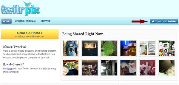 Como twittear fotos desde tu webcam - twitrpx-1
