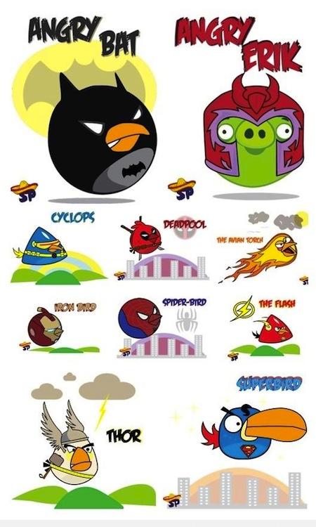 Angry Birds como Super Héroes y villanos [Imagen] - Angry-Birds-HEroes