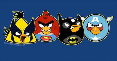 angry birds superheroes Angry Birds como Super Héroes y villanos [Imagen]