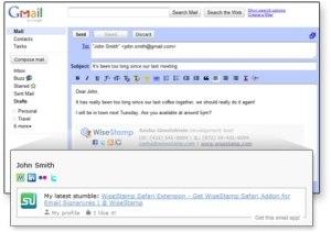 Personalizar la firma de tus correos con WiseStamp